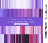 Set Of 4 Backgrounds With...