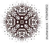 abstract mandala pattern.... | Shutterstock .eps vector #470690852