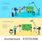 filmmaking movie scene shooting ... | Shutterstock .eps vector #470701508