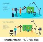 filmmaking movie scene shooting ...   Shutterstock .eps vector #470701508