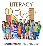 academic knowledge literacy... | Shutterstock . vector #470702612