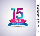 15 years anniversary logo  blue ... | Shutterstock .eps vector #470707556