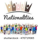 diversity nationalities unity... | Shutterstock . vector #470719085