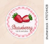 vector round label  strawberry  ...   Shutterstock .eps vector #470724428