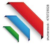 corner banner   corner ribbon... | Shutterstock .eps vector #470725028