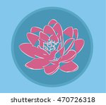 decorative water lily | Shutterstock .eps vector #470726318
