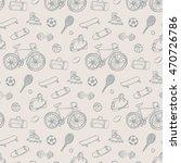 sport fitness objects pattern | Shutterstock .eps vector #470726786