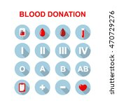 blood donation icons. vector... | Shutterstock .eps vector #470729276