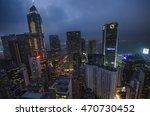 hong kong city at night ... | Shutterstock . vector #470730452
