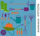 garden set   bucket  shovel ... | Shutterstock .eps vector #470731556