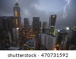 view of hong kong skyline at... | Shutterstock . vector #470731592