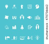 business training icon set | Shutterstock .eps vector #470736662