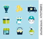 vector flat icons set flower...   Shutterstock .eps vector #470758892