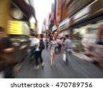 shopper walk at shopping street ... | Shutterstock . vector #470789756