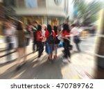 shopper walk at shopping street ... | Shutterstock . vector #470789762