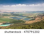 Panoramic Spring Landscape Of...