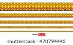 silk golden rope border  set of ...