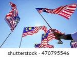 hand waving malaysia flag also...   Shutterstock . vector #470795546