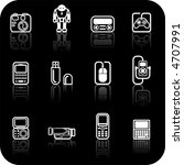 gadget icon set. a set of white ... | Shutterstock .eps vector #4707991