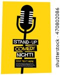 stand up comedy night   flat... | Shutterstock .eps vector #470802086