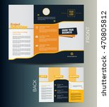 trifold business brochure layout | Shutterstock .eps vector #470805812