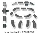 city map creation kit  diy .... | Shutterstock .eps vector #47080654