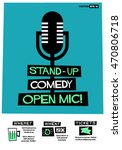 stand up comedy open mic   flat ... | Shutterstock .eps vector #470806718