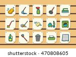 cleaning tools icons set eps10 | Shutterstock .eps vector #470808605