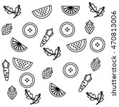 set collection fruits pattern... | Shutterstock .eps vector #470813006