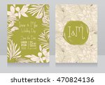 wedding invitations in tropical ... | Shutterstock .eps vector #470824136