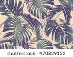 palm leaves  jungle leaf ... | Shutterstock .eps vector #470829122