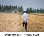 Rear View Of Senior Man Farmer...