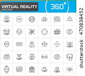 virtual reality line icons set. ... | Shutterstock .eps vector #470838452