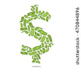 the dollar as the greenback... | Shutterstock . vector #470844896