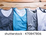 shirts plaid in plan with... | Shutterstock . vector #470847806