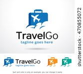 travel go logo template design... | Shutterstock .eps vector #470855072