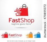 fast shop logo template design... | Shutterstock .eps vector #470855372