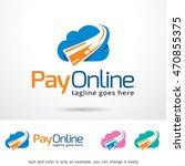 pay online logo template design ... | Shutterstock .eps vector #470855375