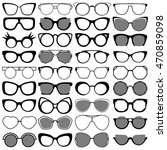black modern sunglasses set.... | Shutterstock .eps vector #470859098