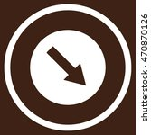 down right rounded arrow vector ... | Shutterstock .eps vector #470870126