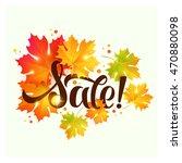 autumn sale lettering    Shutterstock .eps vector #470880098