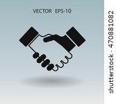 flat  icon of handshake | Shutterstock .eps vector #470881082