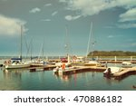 aerial view of boats and small... | Shutterstock . vector #470886182