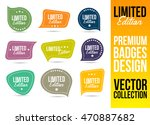 limited edition logo badge and ... | Shutterstock .eps vector #470887682