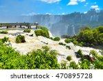 iguassu falls national park in... | Shutterstock . vector #470895728