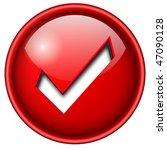 accept mark  sign icon  button  ... | Shutterstock .eps vector #47090128