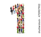 large group of people in number ... | Shutterstock .eps vector #470907902
