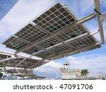 solar power panel in park   Shutterstock . vector #47091706