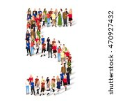 large group of people in number ... | Shutterstock .eps vector #470927432