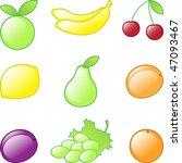 set of vector fruits | Shutterstock .eps vector #47093467